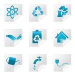 Metallic Blue Eco Friendly Icon 9 Pack